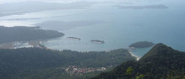 malaysia med børnene ses her fra oven
