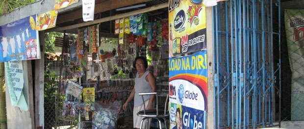 en af de lokale butikker i sydøstasien