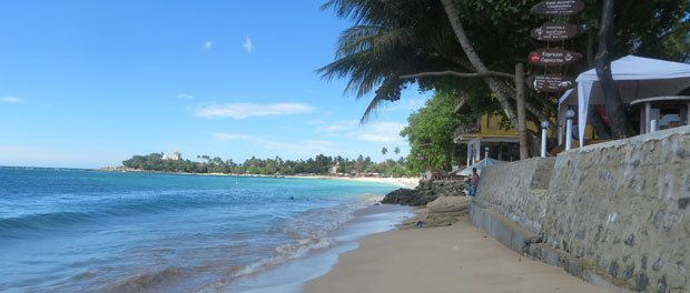 stranden ved unawatuna på sri lanka