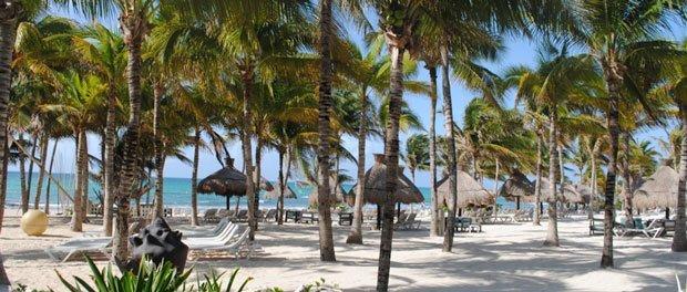 luksus omgivelser på strand i mexico