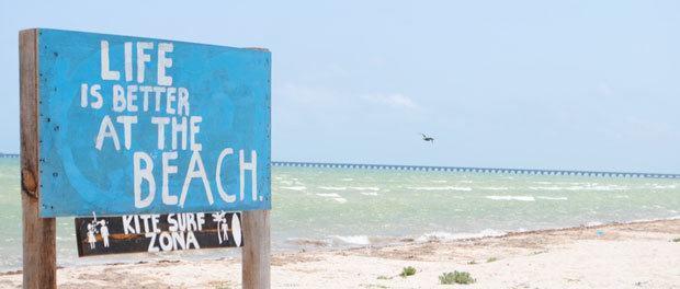 alene på stranden i mexico