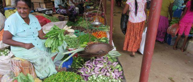 det lokale marked i tangalle på sri lanka