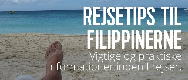 guide til når I skal rejse til filippinerne