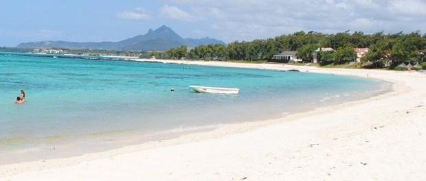 en smuk strand på mauritius