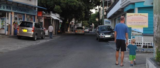afslapning i byen på mauritius