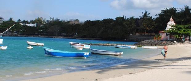 dejlig strand på mauritius