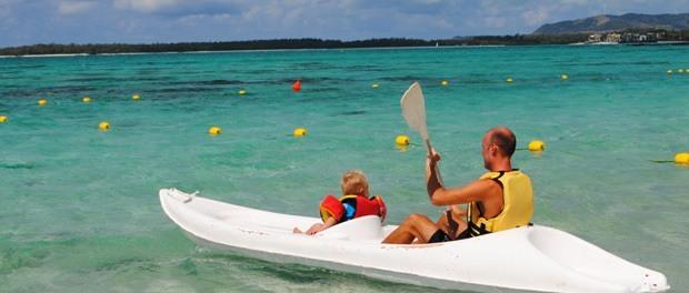 dejligt at hygge sig med ungerne på mauritius