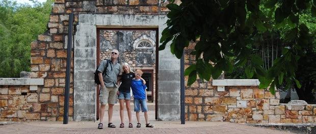 familien havde længe ønsket at rejse rundt i australien med deres børn