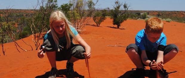 børnene elskede turende til australien