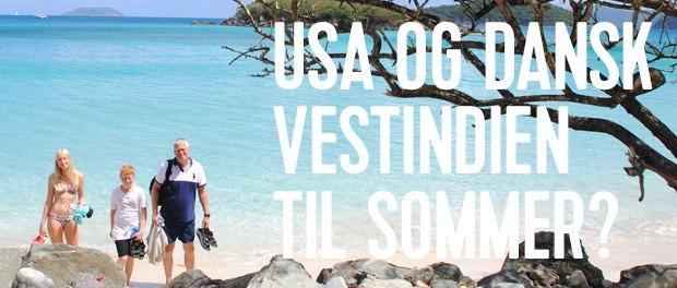 flot caribisk strand på dansk vestindien