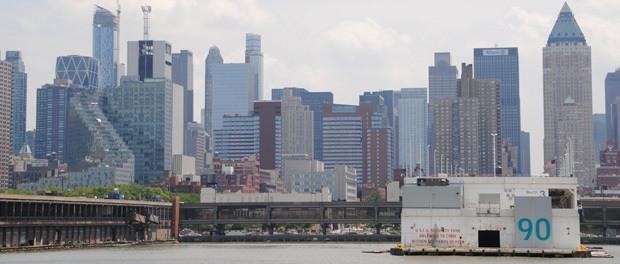 smuk tur med udsigt til new york fra søsiden