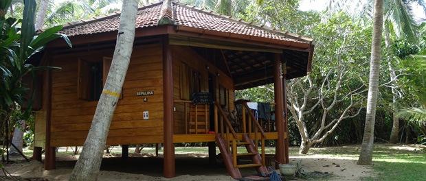 cabanerne i palm paradise er lidt mere primitive