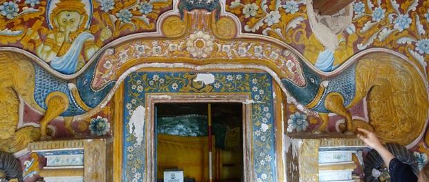 vaegmalerier i mulkirigala klippekloster