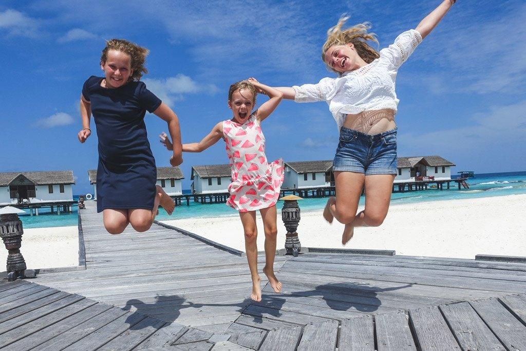 den gode overraskelse da vi fandt ud af, at vi skulle bo i en vand villa på resortet på maldiverne