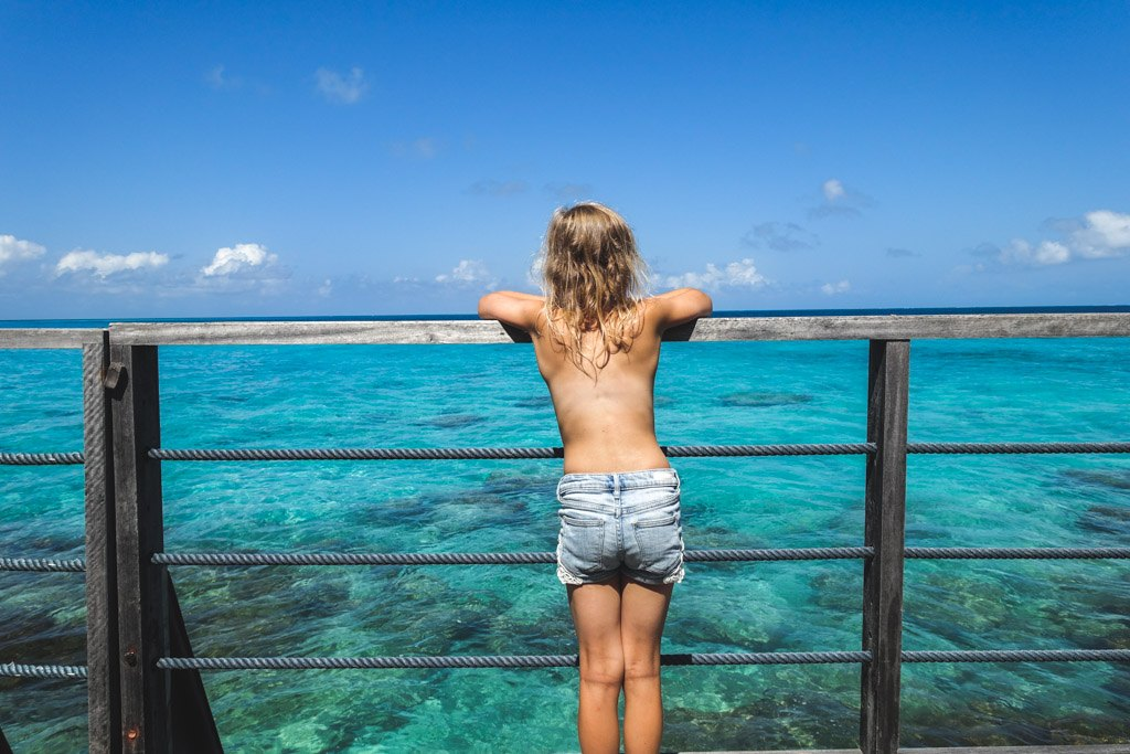 bjørk dagdrømmer på maldiverne