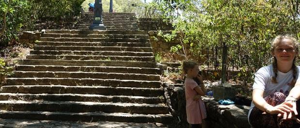 trapperne ved templet i dambulla