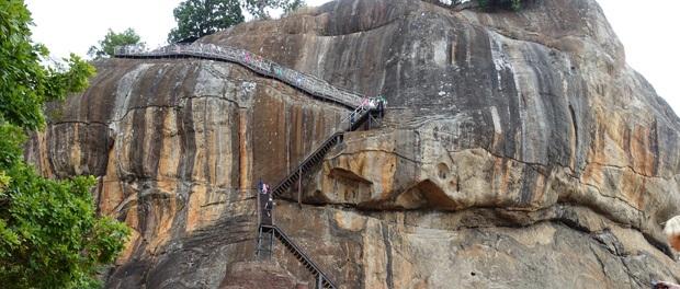 de stejle trapper ved løve klippen