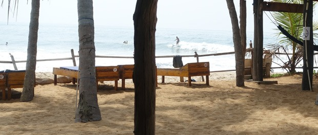 udsigten fra arum bay upali beach