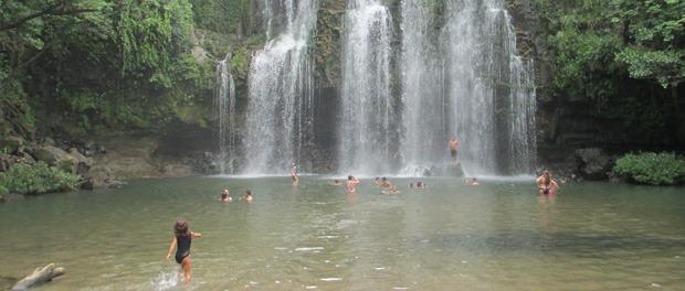Llanos de Cortez vandfald
