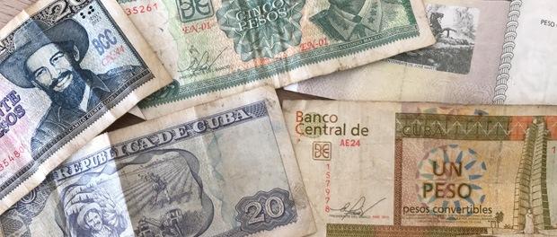 pengesedler på cuba - CUP og CUC