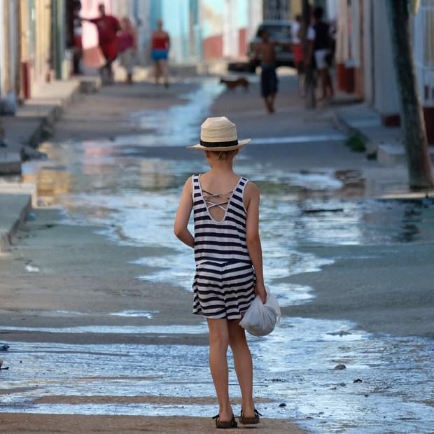 gaderne er fyldt med vand i trinidad