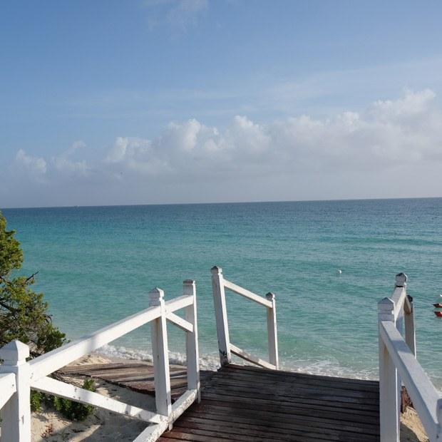 kort afstand til stranden fra vores hytte på melia las dunas