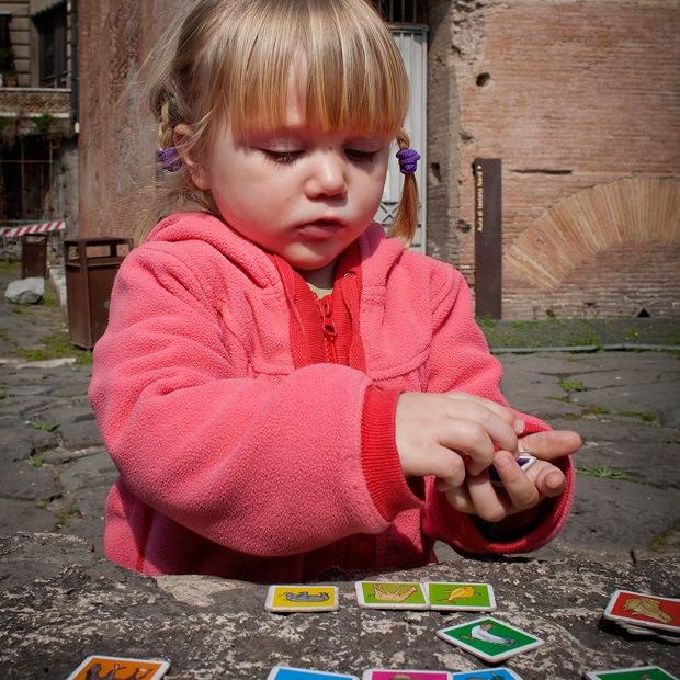 hygge med børn i rom