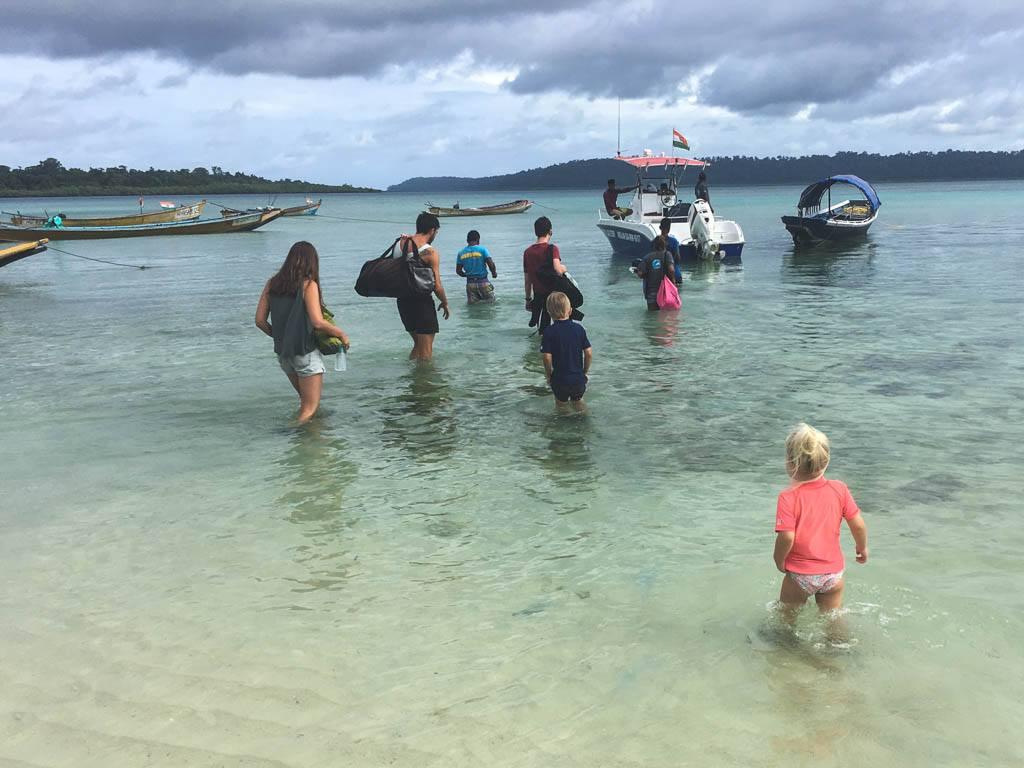 på dykkertur på havelock med børnene