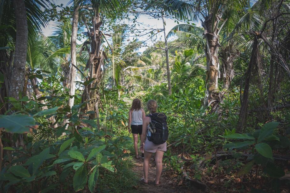 turen gennem jungle og strand