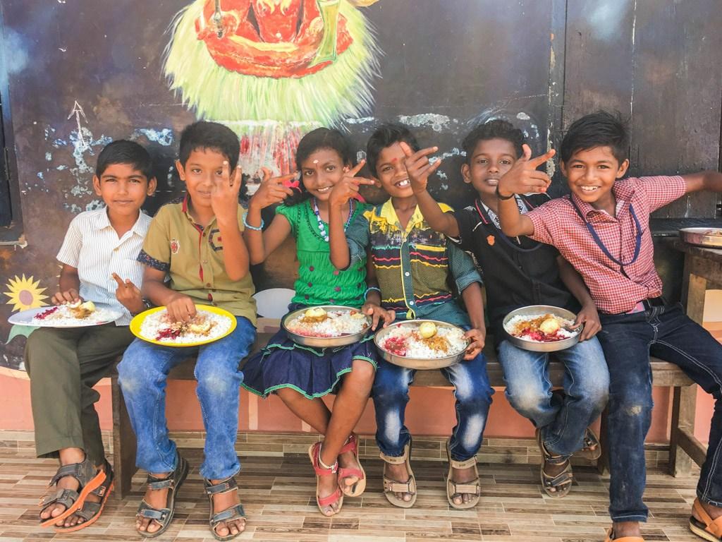 børnene i alleppey indien