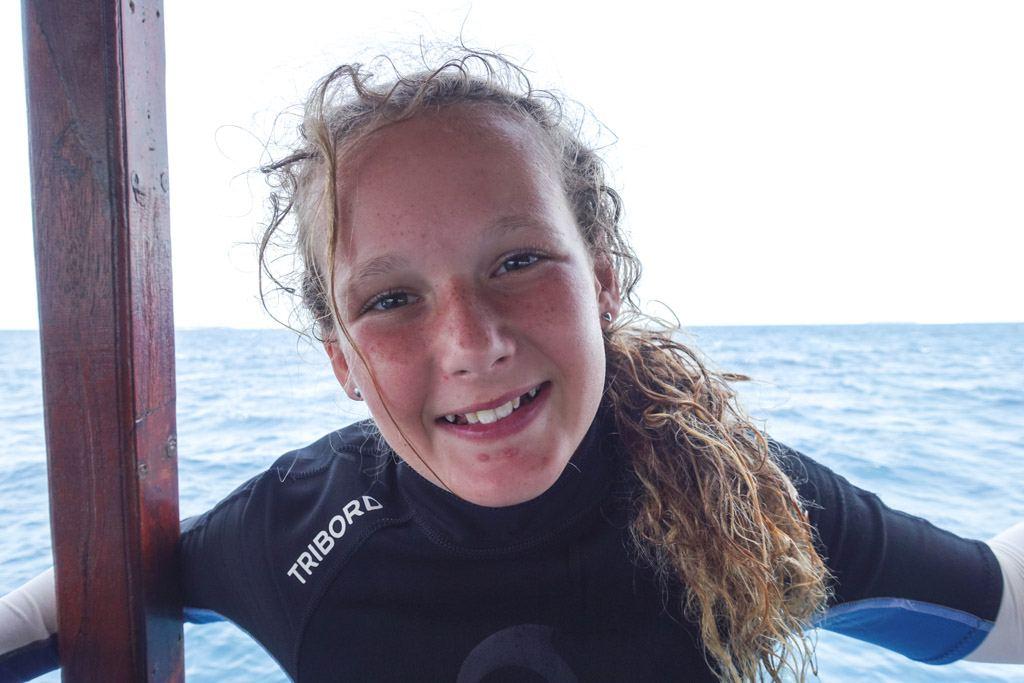 skøn oplevelse at dykke som barn