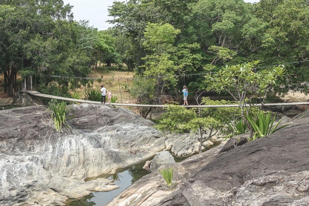 galapita rock eller eco lodge kan varmt anbefales - her den berømte hængebro