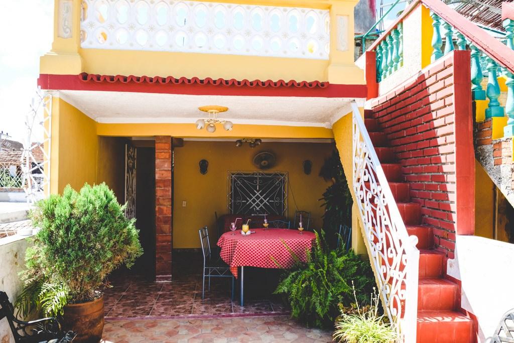 hvor vi spiste på vores casa particulares i trinidad
