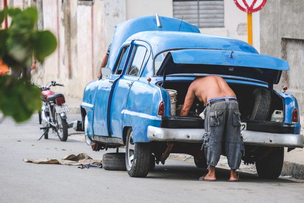 cuba cienfuegos american car