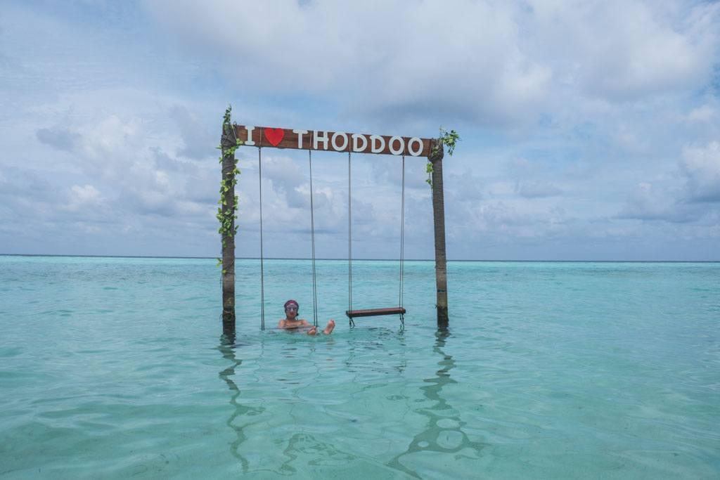 den lille strand på maldiverne