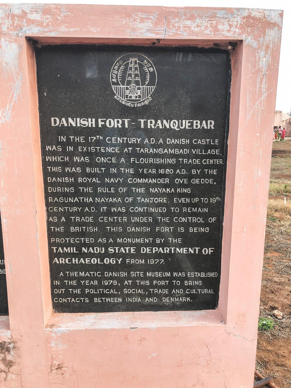 tranquebar det danske fort