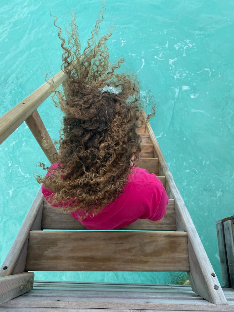 Voldsom blæst og vind i håret