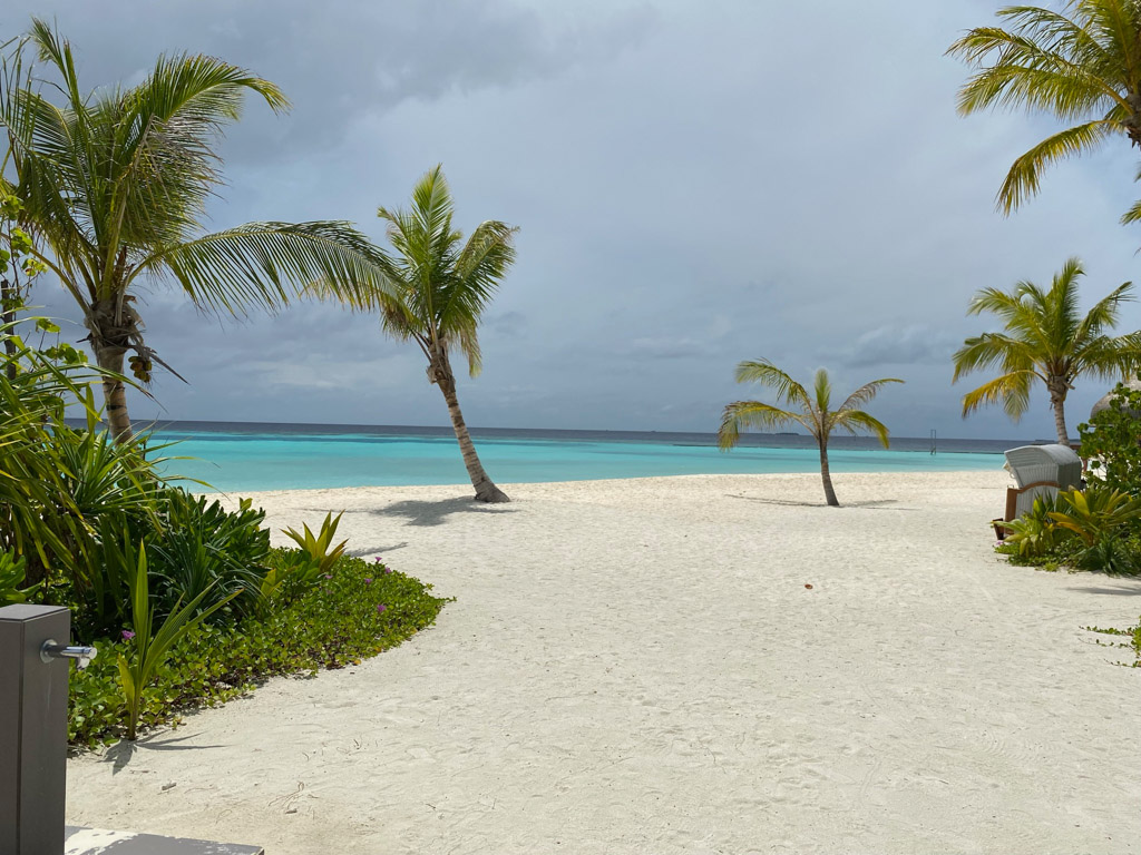 Stranden på Maafushivaru